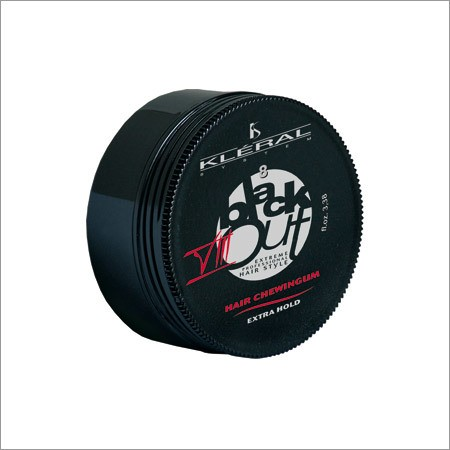 """Kleral """"Black out VIII Hair Chewingum Extra Hold"""" 100ml."""
