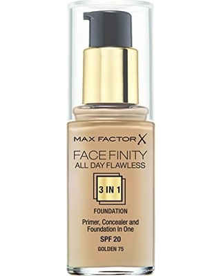 """MAX FACTOR """"Face Finity All Day Flawless"""" No.75 Makiažo pagrindas"""