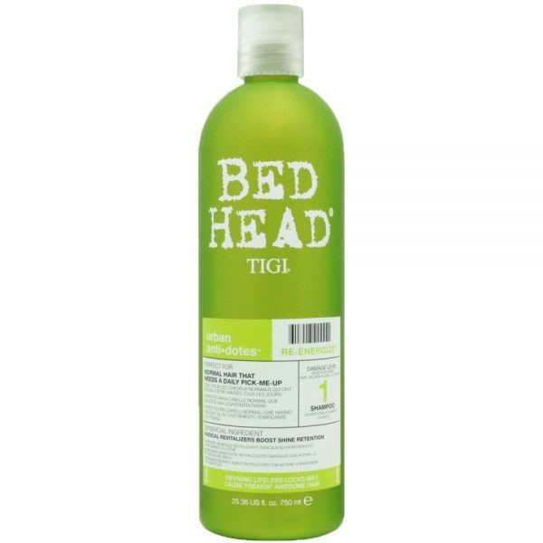 Tigi Bed Head Urban Anti+Dotes Re-Energize Plaukus stiprinantis šampūnas 750ml